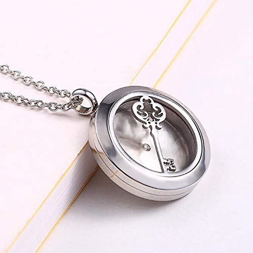Aromatherapy Essential Oil Diffuser Locket Luck Key Necklaces for Mom Birthday Mothers Day