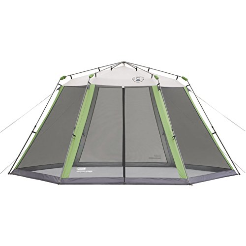 Coleman Screened Canopy Tent with Instant Setup | Back Home Screenhouse Sets Up in 60 Seconds, 15 x 13