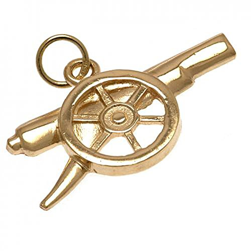 Arsenal F.C - 9ct Gold Pendant (CANNON) by Bourne Gifts