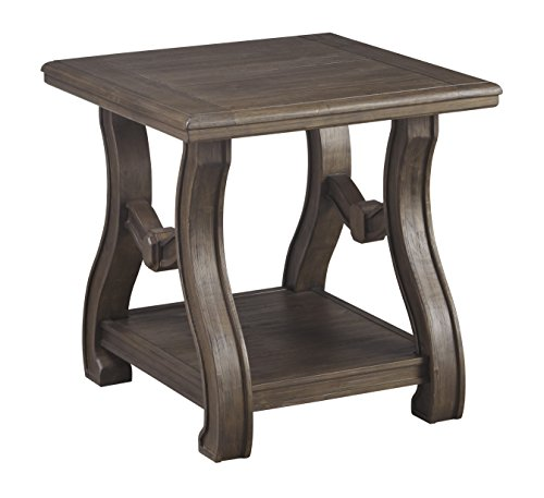 Ashley Furniture Signature Design - Tanobay Traditional Square End Table - Gray