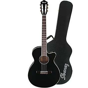 Ibanez aeg10niibk acústica guitarra eléctrica en madera de caoba acabado en negro con Ibanez aeg10 C carcasa rígida para AEG guitarras: Amazon.es: ...