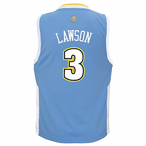 adidas Ty Lawson Denver Nuggets NBA Light Blue Official Road Replica Basketball Jersey for Toddler - Nuggets Jersey Blue Denver