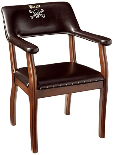 - CilekPirate Chair Leatherette Desk Seat Childrens Chair Brown