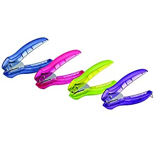 PaperPro inLIGHT Reduced Effort One-Hole Punch, One Unit per Package, Assorted Colors, No Color Choice (2401)