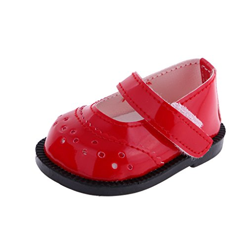 """RED /""""Sparkle/"""" Mary Janes DOLL SHOES fits 18/"""" AMERICAN GIRL Doll Clothes"""