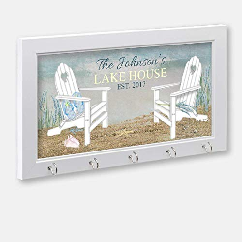 Personalized Lake House Or Beach House Key Holder, Key Hanger, Wall Key Rack, Wall Key Holder, Key Holders, Personalized Gift, Home, Housewarming Gift ()
