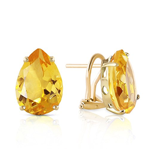 ALARRI 10 CTW 14K Solid Gold Inspiration Citrine Earrings by ALARRI