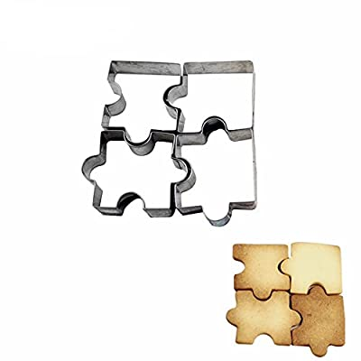 New Arrival Set of 4 Cute Puzzle Cookies Mold Vegetables Fruit Cut Stainless Steel DIY Baking Tools