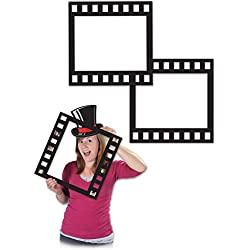"Beistle 58047 Filmstrip Photo Fun Frames, 12"", Black"