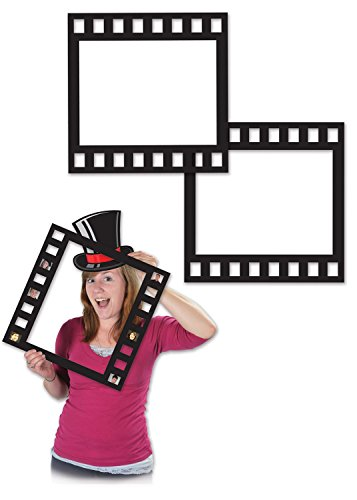 "Beistle 58047 Filmstrip Photo Fun Frames, 12"", Black"