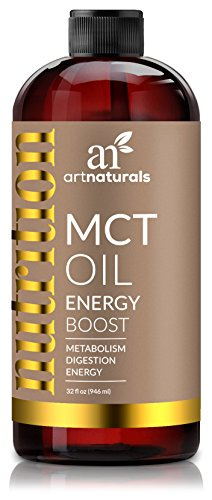 ArtNaturals Premium MCT Oil for Nutrition – 32 Oz – Weight and Energy Supplement – Derived from Organic Coconuts – Good for Metabolism and Digestion – Paleo and Bulletproof Safe