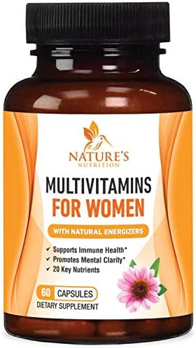 Multivitamin for Women One Daily Highest Potency 1000mg - Natural Whole Food Supplement, Made in USA, Best Vitamins A B C D E, Biotin, Calcium, Zinc, Magnesium, Folic Acid - 60 Capsules