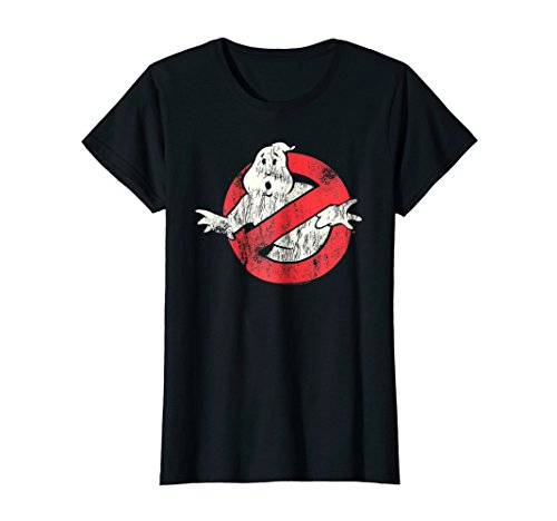 Womens Ghostbusters Vintage Logo Small Black