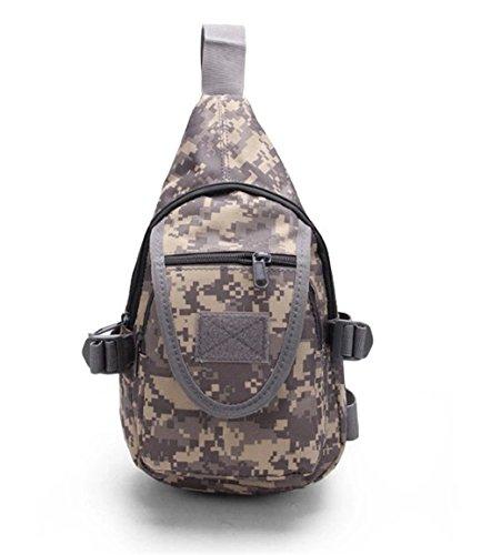 Wewod Mochila de Pecho,Mochilas Escolares de Hombro,Mochila de Un Hombro Militar,Sling Bag for Men 20 x 28 x 10 cm (L*H*W) Colorido-A
