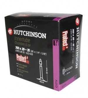 Hutchinson Protect Air Inner tube 28 inch, 700 x 37/47 black by HUTCHINSON