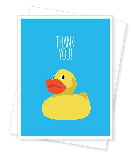 Lucky Duck, Thank You Greeting Card (Duck Thank You Cards)
