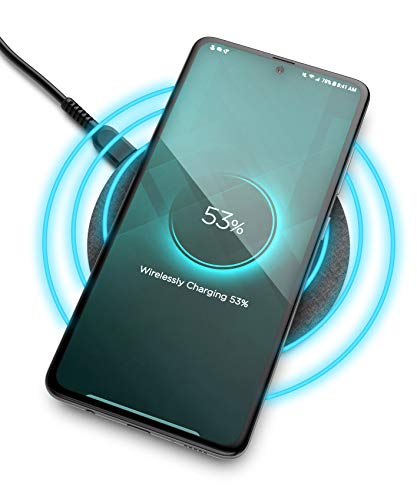 Encased Wireless Charger Pad for Samsung Models (Quick Charge 3.0) for Galaxy Note 10 Plus / 20 / S9 / S10 / S20 Plus (Fast Charging Qi Enabled) Non-Slip, Case Compatible (Premium Metal Construction)