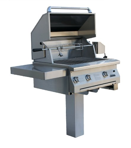 SOLAIRE 30-Inch Infrared Natural Gas In-Ground Post Grill...