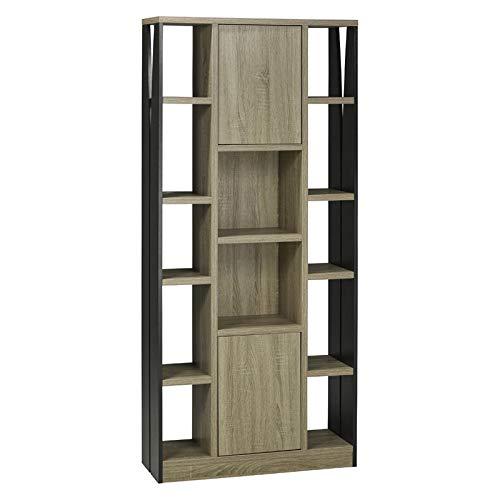Brassex Multi-Tier Display Cabinet with Storage in Dark Taupe Black by Brassex (Image #1)