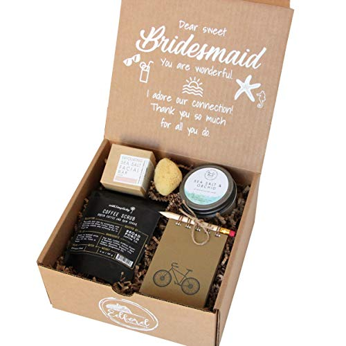 "Seaside Bridesmaid Gift All-Natural Kraft 'for You' Gift Box Includes Collection of Bath & Body Products Organic Beauty Wedding Favor""Will You be My Bridesmaid?"""