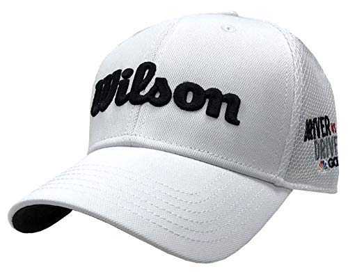 - Wilson Staff Tour Mesh Hat Golf Cap Driver vs Driver White Adjustable WGH610DVD