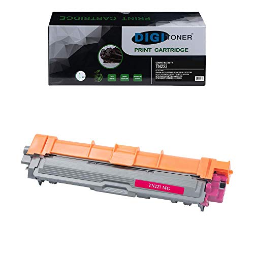 DIGITONER Compatible Toner Cartridge Replacement for Brother TN223 TN227 TN-223 TN-227 Toner Cartridge [NO CHIP]Work with Brother MFC L3770CDW Brother HL-L3210CW HL-3230CDW HL-L3270CDW Magenta[1 Pack] -  PD-TN223MG-1PK