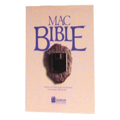 Mac Bible Zondervan Publishing Bible Study and Research Software for Macintosh Apple