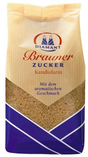Diamant Brauner Zucker Kandisfarin, 12er Pack (12 x 500 g Packung)