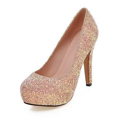 Talones de las mujeres Zapatos Primavera Verano Otoño Invierno Club de boda sintético Fiesta y vestido de noche de lentejuelas de tacón de aguja Negro Blanco Rosa Pink