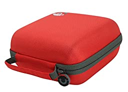 Soundbass - Red Premium Hard Case For Bose Soundlink Color Wireless Bluetooth Speaker Carrying Travel Storage Case Bag