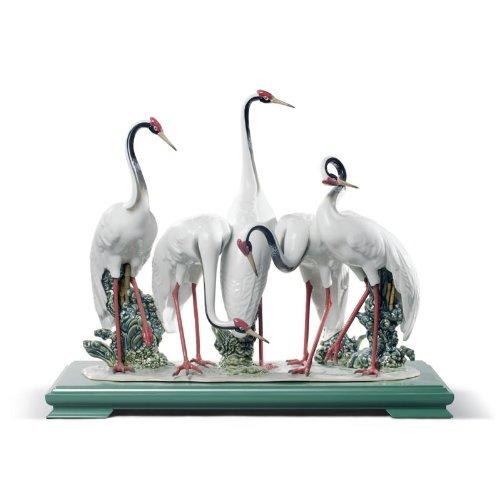 Lladro Flock of Cranes