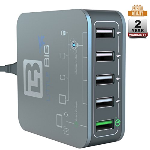 70%OFF USB Charger Multi device charging-iPhone ,IPad ,Samsung ,Galaxy-USB Wall Charger 5 Port-Quick Charge 3.0 Port-Fast Charging Station