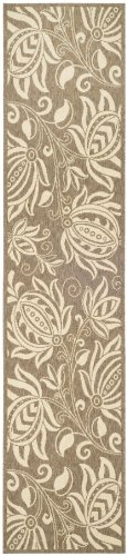 Safavieh Courtyard Collection CY2961-3009 Brown and Natural Indoor/ Outdoor Runner (2'3