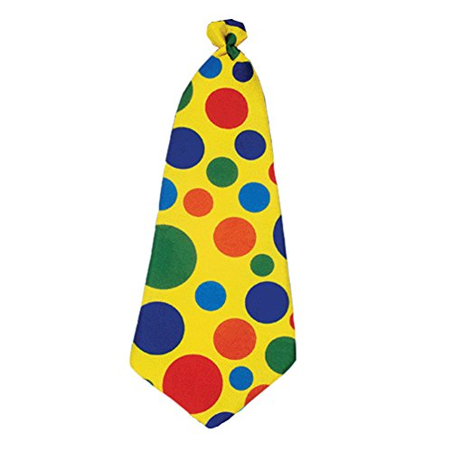 Giant Yellow Foam Clown Costume Necktie