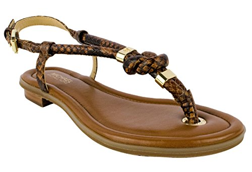 Michael Kors Holly Womens Luggage Leather Gladiator Sandal (5.5) by Michael Kors