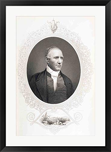 General Samuel Houston Framed Art Print Wall Picture, Black Frame, 24 x 33 inches