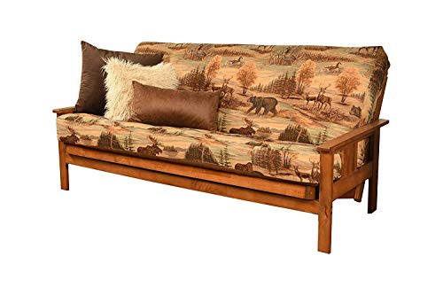 Kodiak Furniture Monterey Futon Set with Barbados Finish, Full, Suede Gray