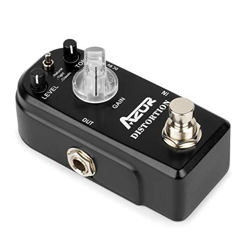 AZOR Distortion Guitar Effect Pedal 3 Modes True Bypass...