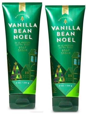 Bath and Body Works 2 Pack Vanilla Bean Noel Ultra Shea Body Cream 8 Oz.