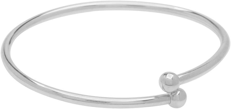 Flexible 2 Bangle Set in Silver