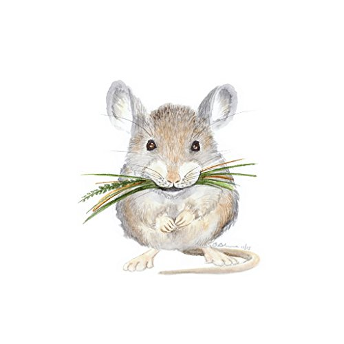 Baby Mouse Watercolor Nursery Wall Art Decor Available In Various Sizes, Woodland Nursery Art