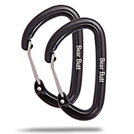 Bear Butt Aluminum Wire Gate Carabiner