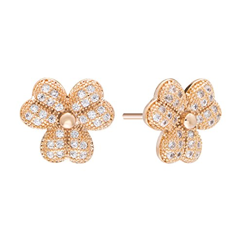 real-sparktm-women-gold-tone-clear-rhinestone-studded-clover-stud-earrings-girls-gift