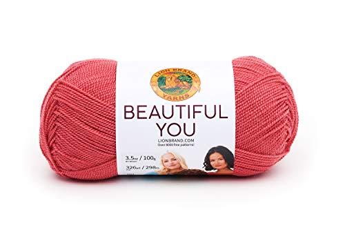(Lion Brand Yarn 165-114 Beautiful You Yarn One Skein Cayenne)