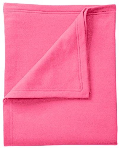 Port & Company BP78 Core Fleece Sweatshirt Blanket, Neon - Sweatshirt Pink Blanket