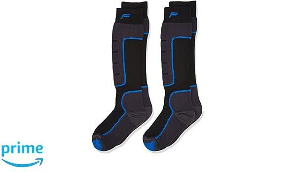 F Lite Niños Esquí Esquí SA 100 Double Calcetines, otoño/Invierno, Infantil, Color Negro y Azul, tamaño 31-34: Amazon.es: Deportes y aire libre