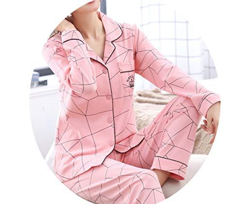 Maniche Abbigliamento Lunghe In Pigiama Da Da Maniche Sottile Pu Da Donna E Casa A La Pajamas Lunghe Autunnale Sezione Cotone Donna 8wPqI