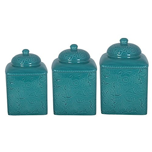 Savannah Turquoise Canister Set by HIEND ACCENT