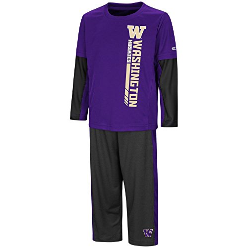 shington Huskies Long Sleeve Tee Shirt and Sweatpants Set - 2T ()