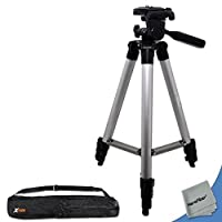 "60"" Pro Series Lightweight Photo/Video Tripod & Carrying Case for Canon EOS Rebel XS, XSi, XT, & XTi (350D, 400D, 450D & 1000D) Digital SLR Cameras w/ HeroFiber Ultra Gentle Cleaning Cloth"
